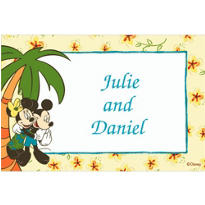 Hawaiian Mickey and Minnie Mouse Custom Thank You Note