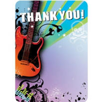 Rock Star Thank You Notes 20ct