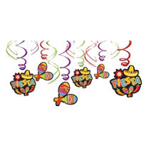 Fiesta Hanging Swirl Decorations 24in 12ct