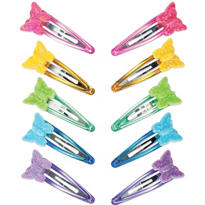 Butterfly Snap Clips 10ct
