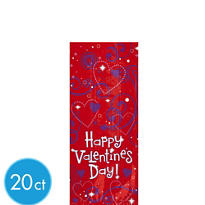 Love Crazy Treat Bags 9 1/2in 20ct