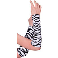 Zebra Print Arm Warmers
