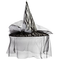 Zebra Witch Hat