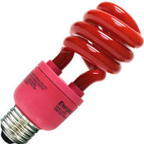 Red CFL Light Bulb