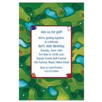 Golf Course Custom Invitation
