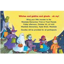 Trick-or-Treat Parade Halloween Custom Invitation