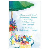 Patio Luncheon Custom Invitation