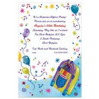 Jukebox Party Custom Invitation