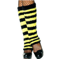 Adult Bumblebee Striped Leg Warmers