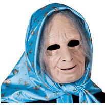 Latex Nana Old Lady Mask
