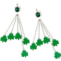 St. Patricks Day Earrings 3 7/8in
