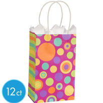 Pink Dots Mini Gift Bags 12ct