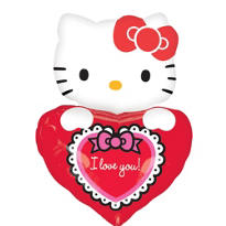 Foil Hello Kitty Lovin' Shape Valentines Day Balloon 29in
