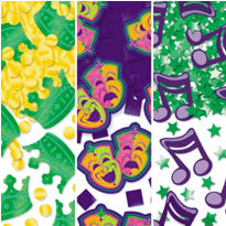 Mardi Gras Confetti 3pk