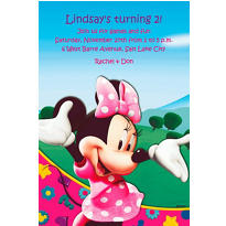 Minnie Mouse Clubhouse Custom Invitation