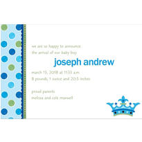 Little Prince Custom Birth Announcements