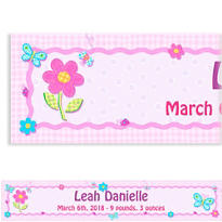 Girl Hugs and Stitches Custom Baby Shower Banner 6ft
