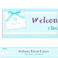 Blue Baby Soft Custom Banner 6ft