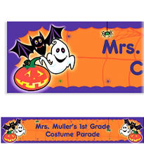 Scared Silly Halloween Custom Banner