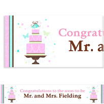 Blushing Bride Custom Wedding Banner