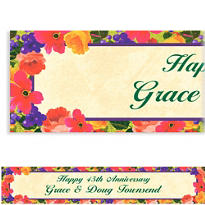 Custom Bright Blooms Banner 6ft