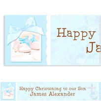 Tiny Blessing Blue Custom Banner 6ft