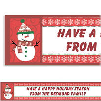 Very Merry Snowman Custom Christmas Banner