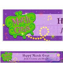 Bourbon Street Custom Mardi Gras Banner