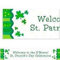 Lucky Wishes Custom St. Patricks Day Banner