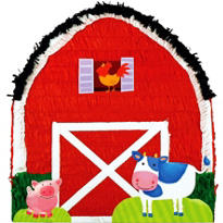 Barnyard Barn Pinata 18in