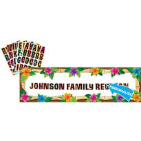 Personalized Luau Banner