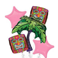 Foil Tiki Time Balloon Bouquet 5pc