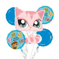 Littlest Pet Shop Balloon Bouquet 5pc