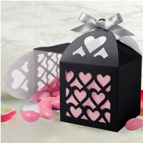Black Paper Lantern Wedding Favor Kit 50ct