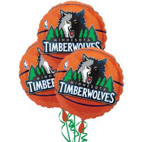 Minnesota Timberwolves Balloons 18in 3ct
