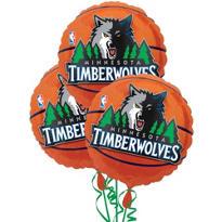 Minnesota Timberwolves Balloons 18in 3ct