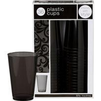 Black Premium Plastic Tumblers 36ct