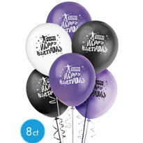 Latex Justin Bieber Balloon 12in 8ct
