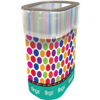 Polka Dots & Stripes Flings® Pop-Up Trash Bin