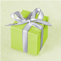 Leaf Green Wedding Favor Boxes 100ct