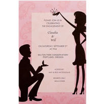 Bended Knee Printable Bridal Shower Invitations 12ct