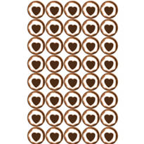 Chocolate Brown Heart Sweets Candy 40ct
