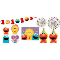 1st Birthday Sesame Street Room Decorating Kit 10pc