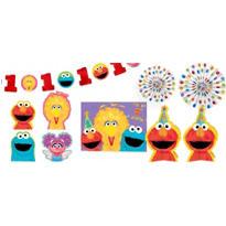1st Birthday Sesame Street Room Decorating Kit 10pc