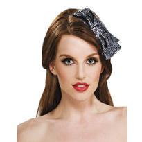 Silver Foil Bow Headband