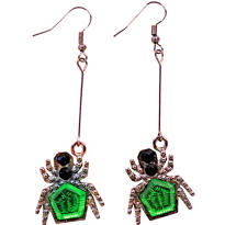 Jeweled Spider Earrings