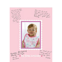 Girl 1st Birthday Autograph Photo Frame