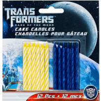 Transformers 3 Spiral Birthday Candles 12ct