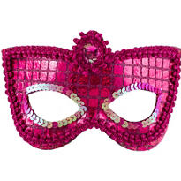 Grand Pink Sequin Mask