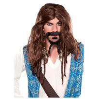 Deluxe Captain Jack Sparrow Pirate Wig